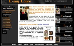 Réalisation du site internet de Dany Laure