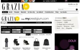 AAZ Interactive assure la création du site partenaire Grazia/Myprestigium