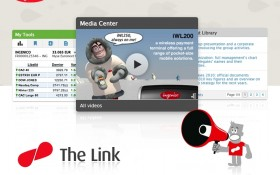 Zee Agency conçoit le look & feel de The Link, le nouvel intranet monde d'Ingenico